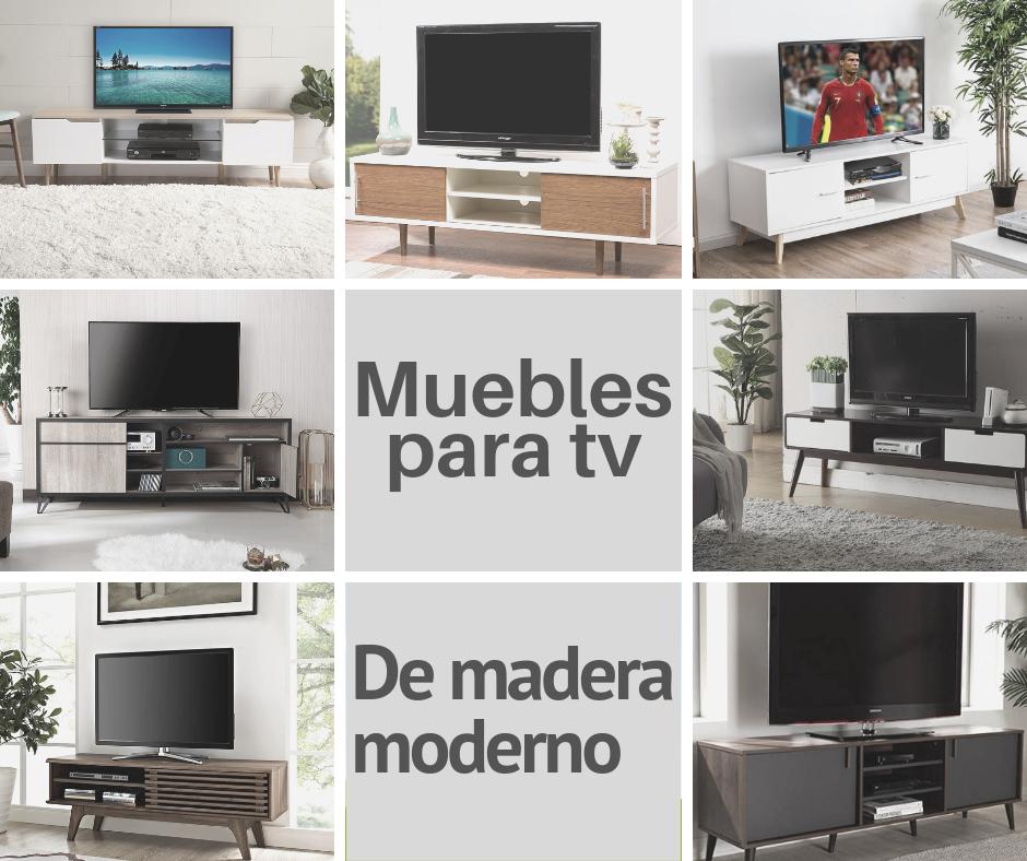 Muebles para tv modernos de madera