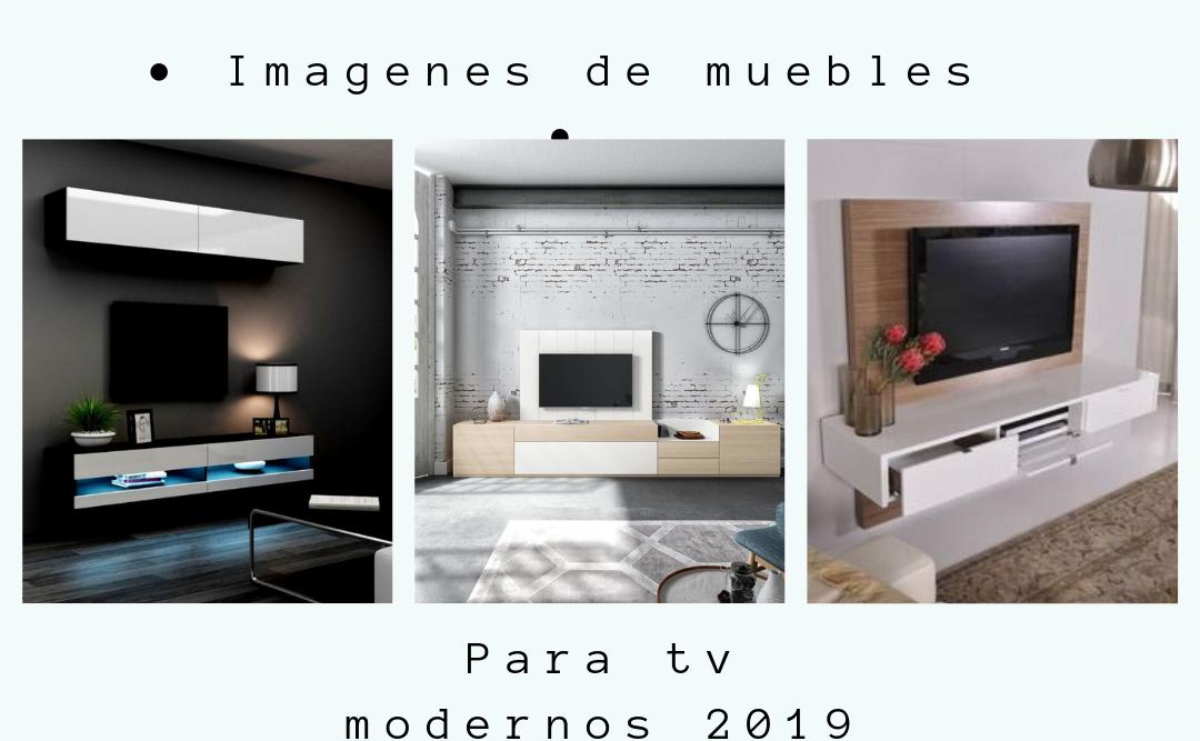Imágenes de muebles para tv moderno 2019