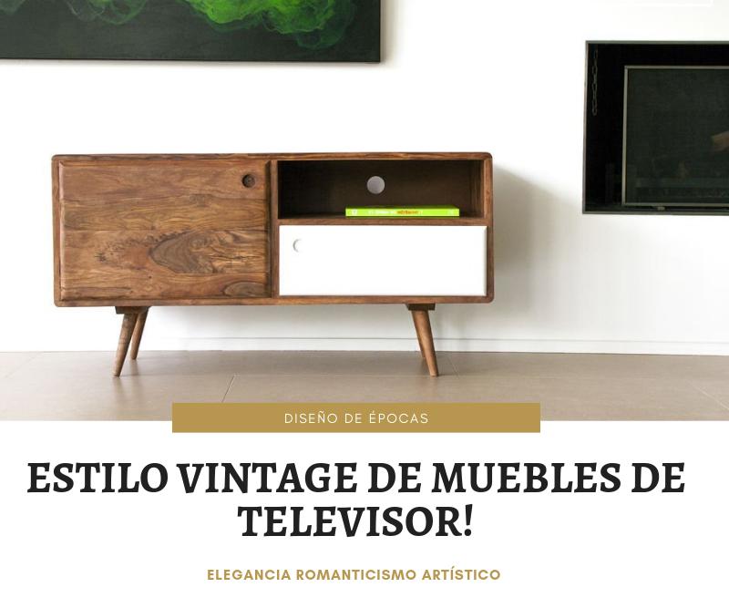 estilo vintage de muebles de televisor!
